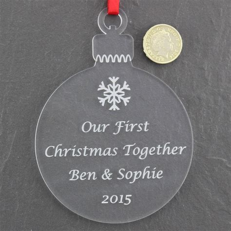 Personalised First Christmas Together Bauble   Nicely