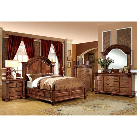 american oak bedroom furniture furniture of america traditional style 4 antique
