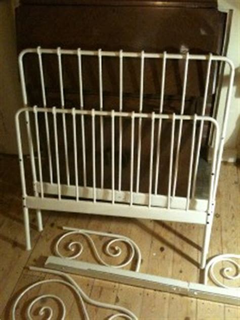 Ikea White Bed Frame Metal Used Ikea Minnen Extendable White Metal Childrens Bed Frame And Slatted Base