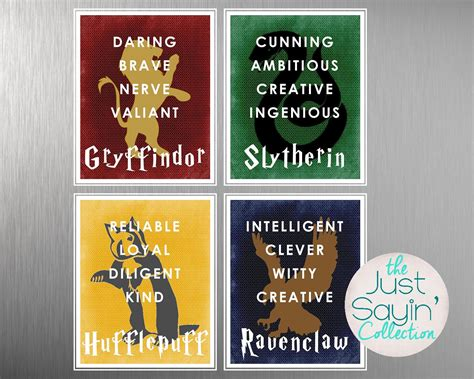 traits of hogwarts houses harry potter hogwarts house typography traits of gryffindor