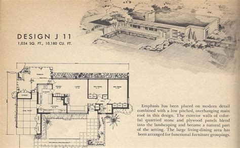 1950s bungalow floor plan retro house plans vintage house plans 1950s home mid