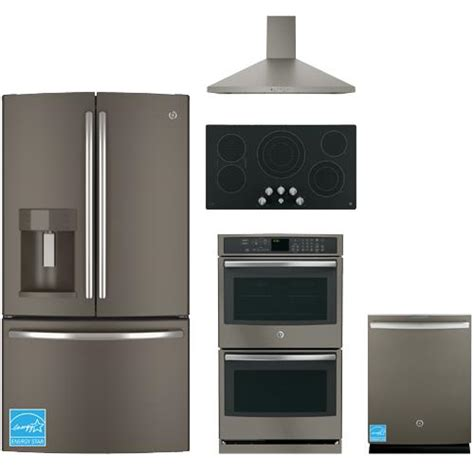 slate kitchen appliance package ge gfe28hmh slate complete kitchen package brandsmart usa