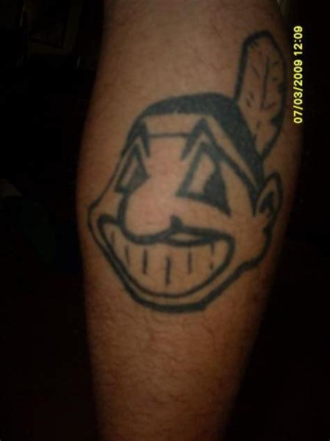 chief wahoo tattoo cleveland indians chief wahoo by mobile ink on