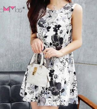 Tas Wanita Ready Stock New Motif Fashion Catherine Set 4in1 mini dress motif bunga lengan buntung model terbaru