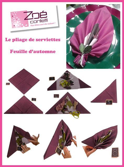 Pliage De Serviette En Feuille by Pliage Feuille D 233 Co Table Pliage Pliage