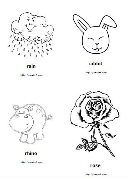 colors starting with r letter r coloring pages and worksheets letterr alphabet