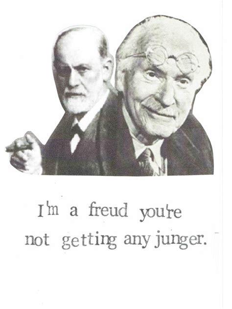 Freud Birthday Card Freud Jung Birthday Card Funny Psychology Happy Birthday
