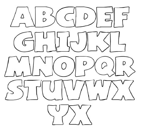 printable alphabet book template printable letter stencils templates craft ideas