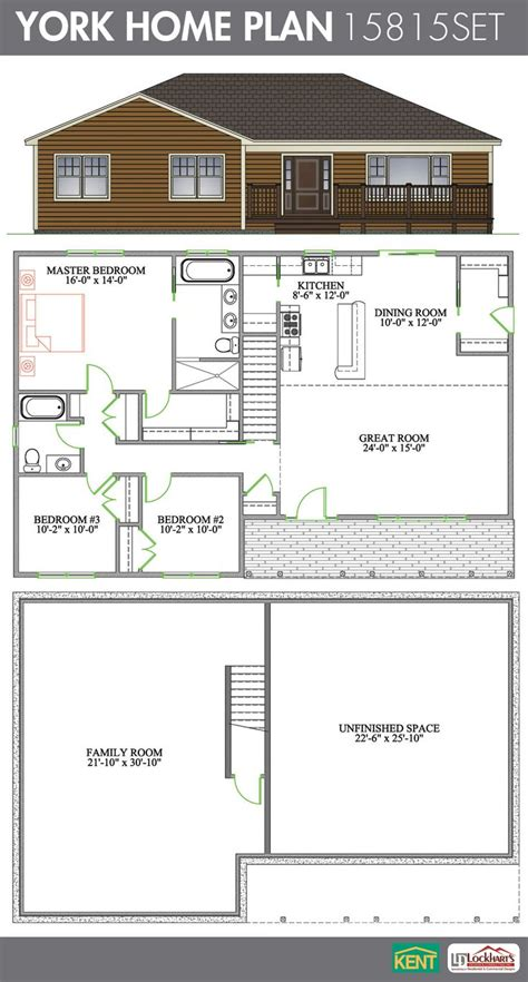 open concept bungalow floor plans york 3 bedroom 2 bathroom home plan features cathedral