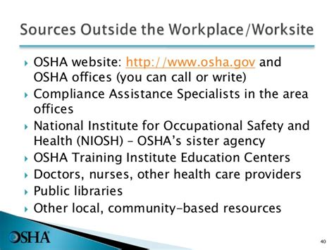 Local Osha Office by Intro To Osha Pptx With New Sds