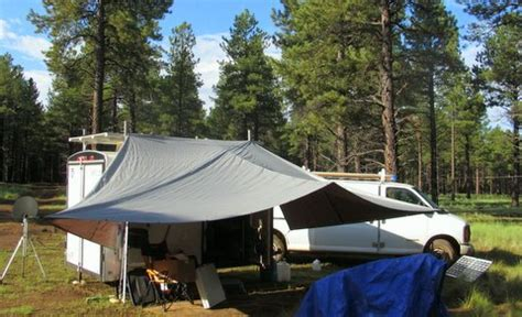 Cheap Rv Awnings by Cheap Rv Living Survivalist Vandweller Putting Up An