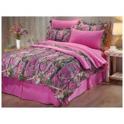castlecreek next vista pink camo complete bed set 574946
