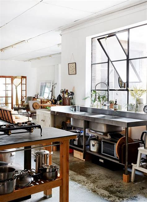 Cool And Minimalist Industrial Kitchen Design Home Industrial Design Kitchen