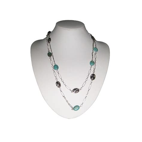 Handcrafted Sterling Silver Jewelry - turquoise in handcrafted sterling silver necklace
