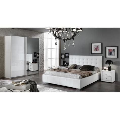 cdiscount chambre adulte simple chambre a coucher moderne laqu blanc brillant with