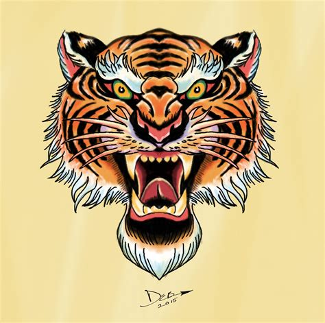 bengal tiger tattoo royal bengal tiger flash in the style of flash