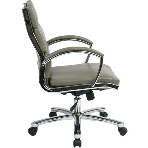 Office Chair Faux Leather by Deluxe Mid Back Faux Leather Executive Office Chair In