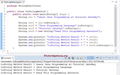 java pattern to convert one object to another java string tostring method
