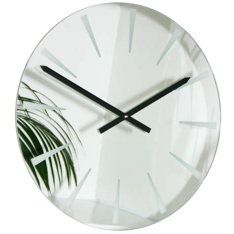Clocks And Mirrors Roco Verre Chevron Mirror Clock