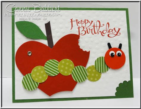 Hungry Caterpillar Birthday Card Inkspired Treasures 187 Punch Art