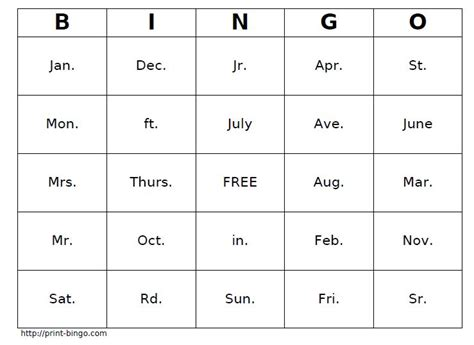 Calendar Abbreviation Abbreviations Worksheets From The S Guide