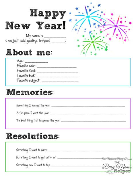 new year printable book new year s printable for busy helper
