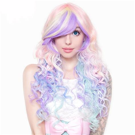 pastel colored wigs 1000 ideas about rainbow dyed hair on dyed