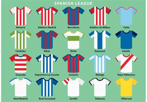 spanish sports jersey vectors   vectors