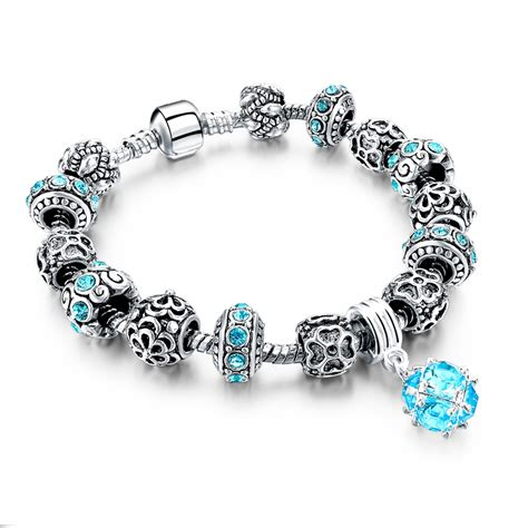 2016 diy charms bracelet silver friendship