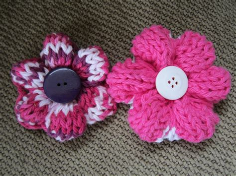 pattern knitted flowers knit flower pattern a knitting blog
