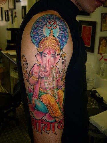 pink ganesha tattoo pink hindu ganesha tattoo tattooimages biz