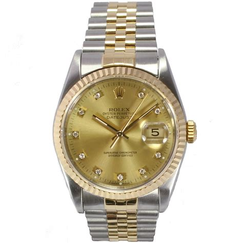 sold gents rolex oyster perpetual datejust 16233 ref 3 8