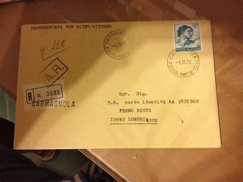 spedire lettere michelangiolesca 500 lire isolato su lettera ing mario