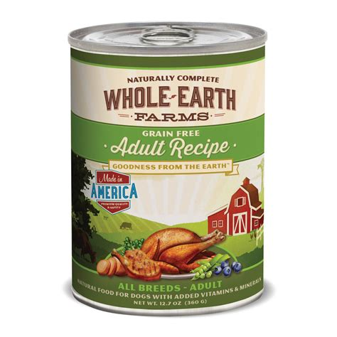 petco puppy food whole earth farms grain free canned food petco