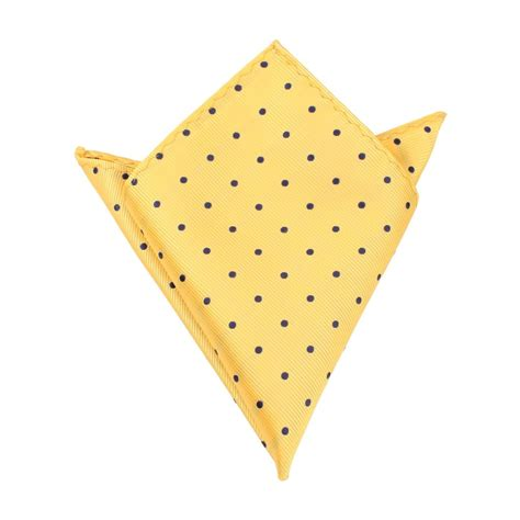 Yellow Pattern Pocket Square | yellow pocket square with polka dots mens handkerchief