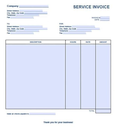 service receipt template word free service invoice template excel pdf word doc