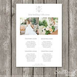 wedding photographer prices price list photography pricing and templates on