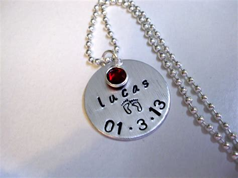 birthing necklace sale now new baby necklace birth date jewelry