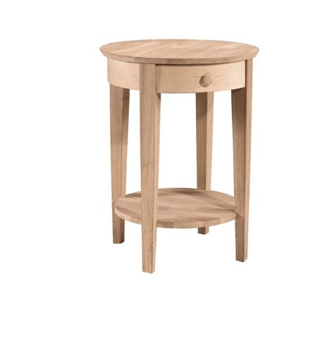 round bedroom table 21 inch phillips round bedside table bare wood fine