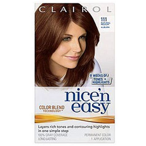 nice and easy color chart hair dye clairol rachael edwards