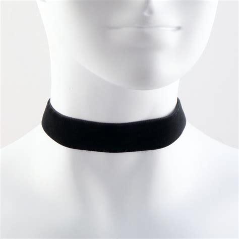 Black Choker 7 8 black velvet choker necklace simple plain basic