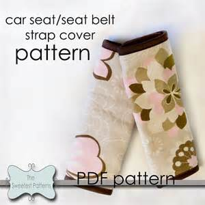 Seat Cover Sewing Pattern 9 Best Images About Seatbelt Covers On