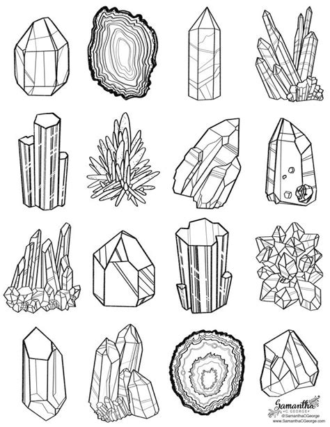 printable coloring pages gemstones free coloring page gems and minerals samantha c george