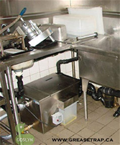 grease trap for kitchen sink grease interceptor models goslyn ontario