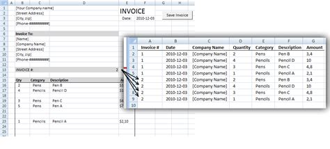 edit invoice data vba