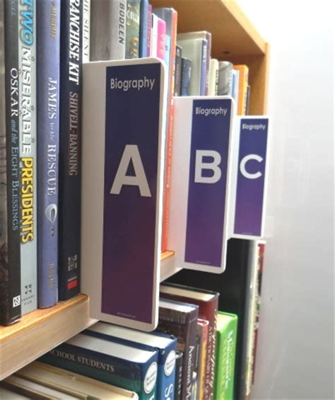 Shelf Markers For Library by Biography Biography Mini Shelf Markers All Your