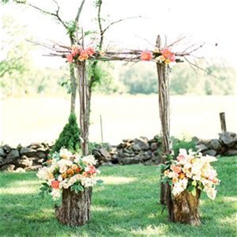 wedding aisle branches rustic tree branch ceremony arch ceremony decor wedding