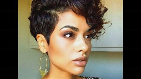 short on side long on top for black wome cute and curly short hair with big top and short sides