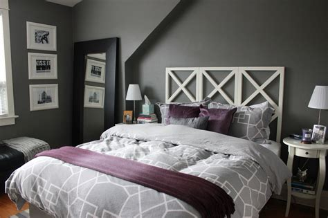 black and purple gallery with light grey bedroom picture