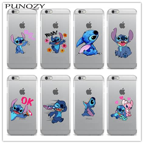 cute stitch emoji soft tpu clear silicon phone case